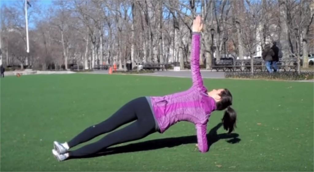 bočný plank cvik pre ženy