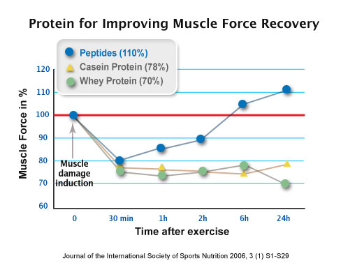 Porovanie srvátkového proteínu ,kazeínu a peptidov