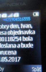 objednavka nu3tion sms