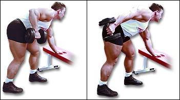 tricepsové extenzie s jednoručkou